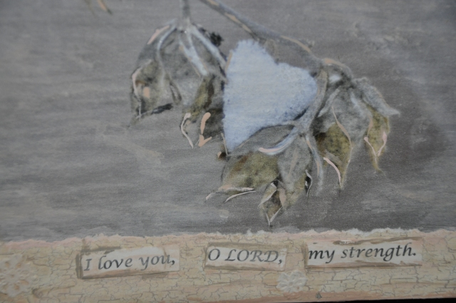 close up shabby chic heart picture