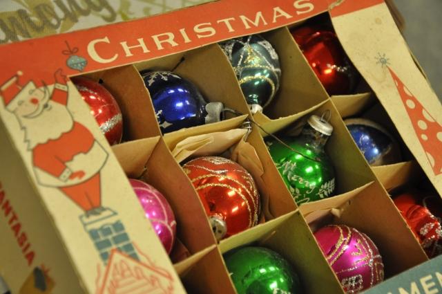 Vintage Christmas ornaments!