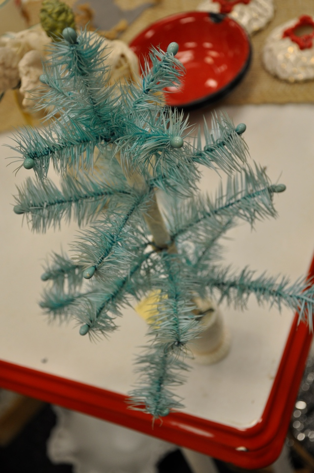 Teal feather tree
