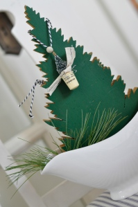 Mini bottle brush tree necklace